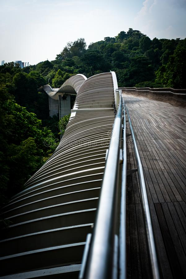 Handerson fala most Singapur obrazy stock