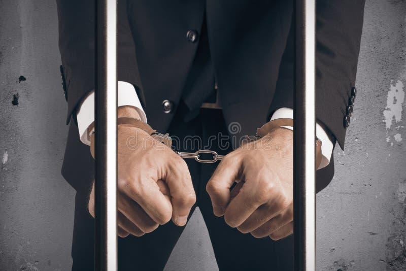 Handfängslad affärsman arkivbild