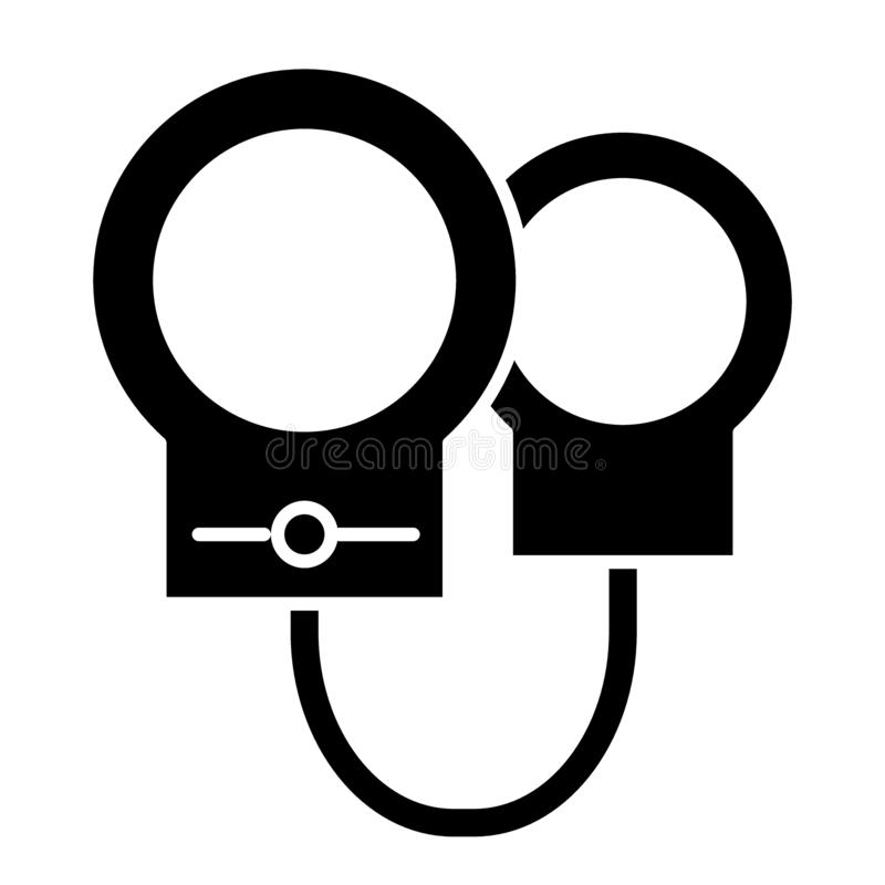 Handfängslar den fasta symbolen Bojaillustration som isoleras på vit Chain skårastildesign som planläggs för rengöringsduk och ap vektor illustrationer
