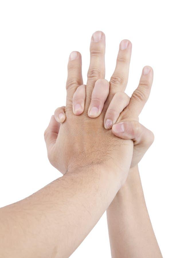 handförälskelse royaltyfri foto