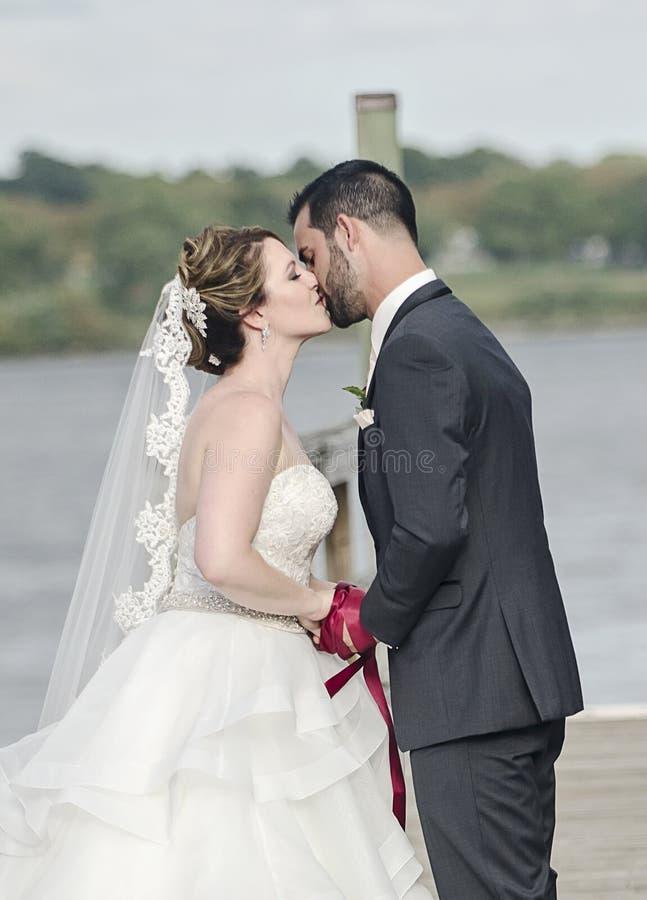 Handfasting wedding ceremony stock images