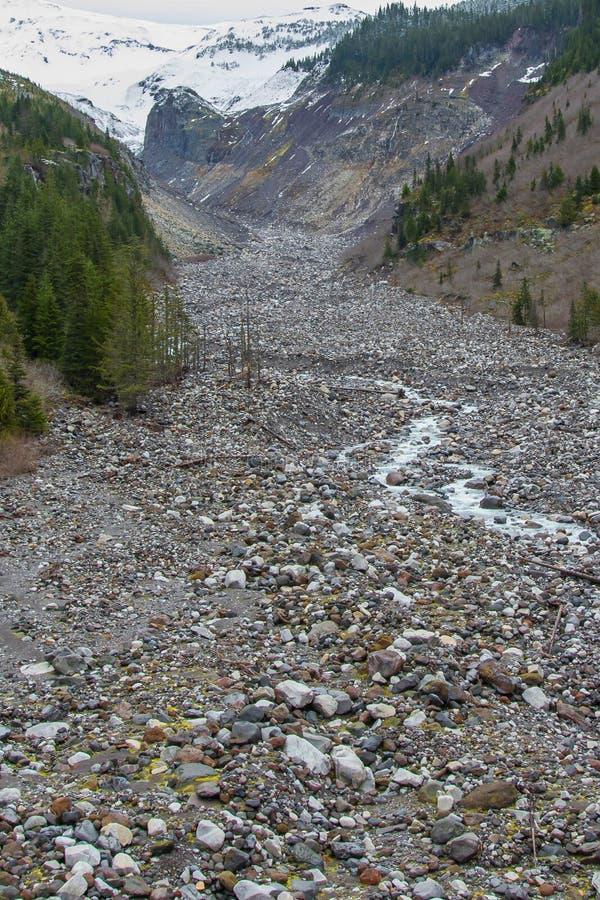 Handfat för Nisqually glaciärflod royaltyfri fotografi