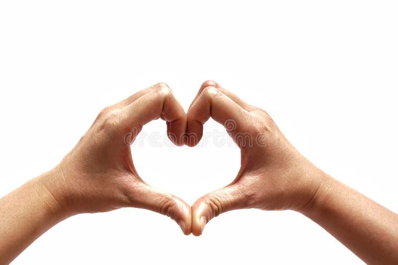 Handformung des Herzens stockbilder