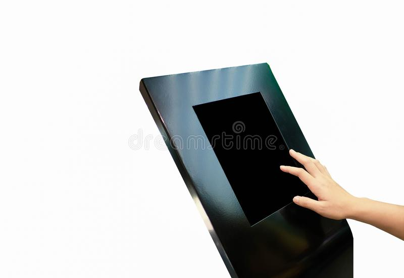 Handfrau ` s Monitor Note LED lizenzfreie stockfotografie