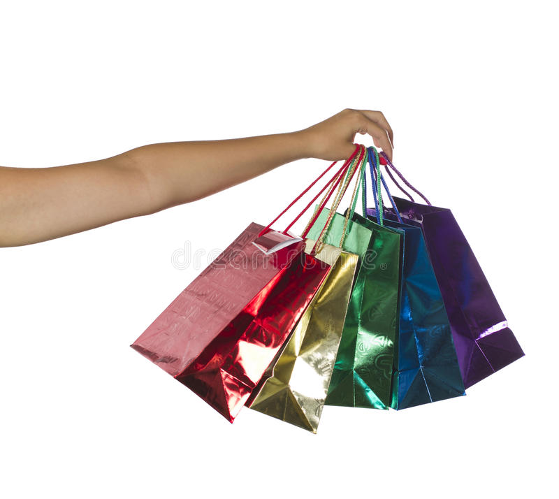 Download Handful of Bags stock image. Image of blue, paper, selling - 21406743