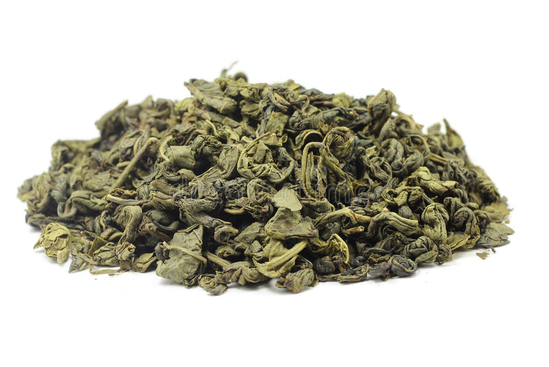 Download A Handful Of Dried Green Tea Leaves Stock Image - Image: 36043963