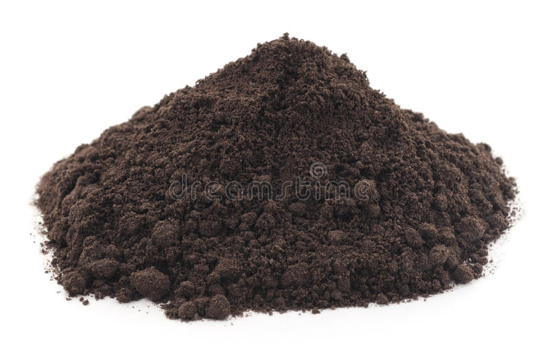 Handful of earth. royalty free stock image