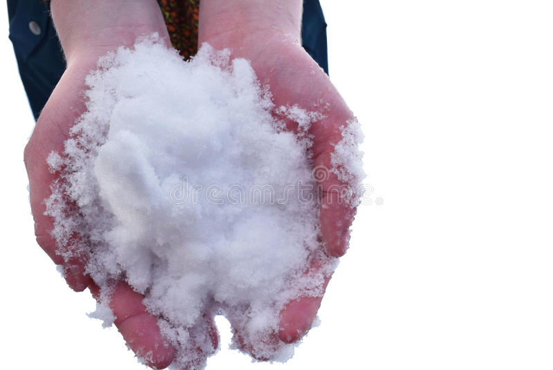 Handful of Snow stock images