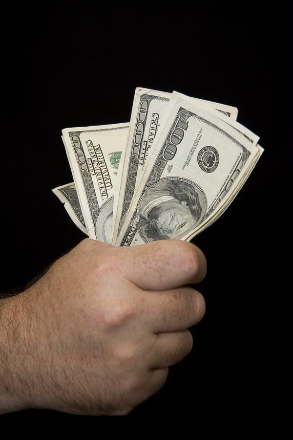 Handfull Of Cash Stock Photo
