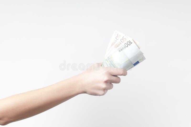 Handfull d'argent images stock