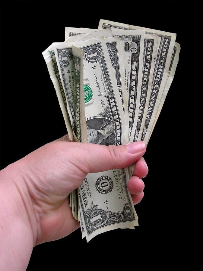 Handfull Of Dollars 2 stock photo