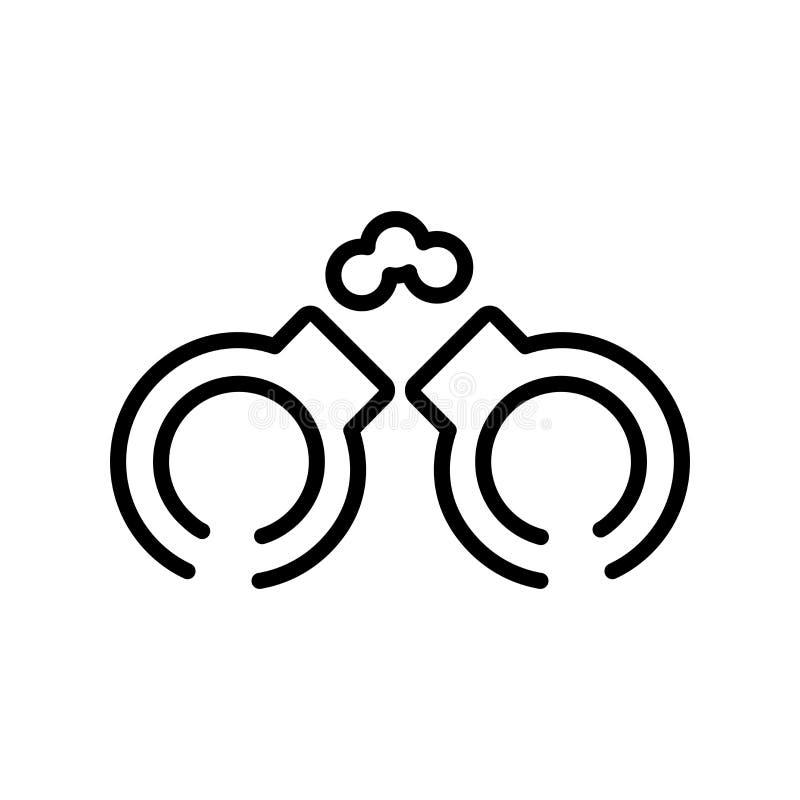 Handgeben der freie Ikonenvektor, der auf weißem Hintergrund lokalisiert wird, Hände frei stock abbildung