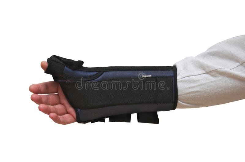 Handgelenk-und Daumen-Klammer/Schiene stockbild
