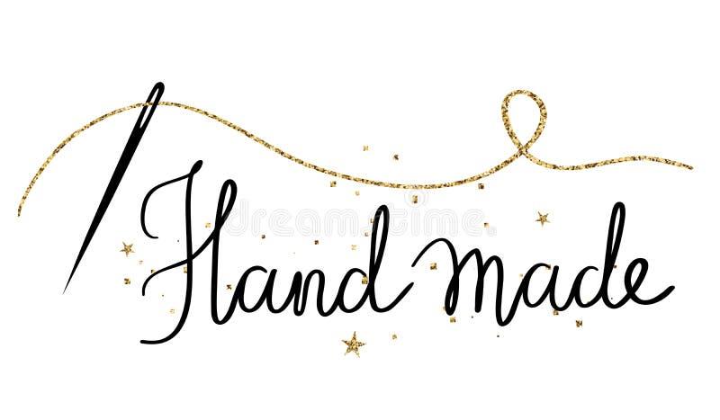 Handgemacht - gezeichnete Beschriftung des Feiertags Hand stock abbildung