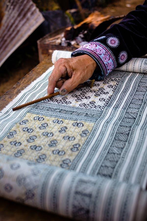 Handgemachte Batikdesigne stockfotografie