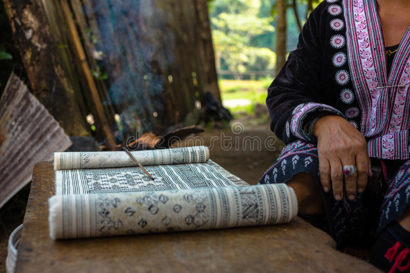 Handgemachte Batikdesigne stockfoto