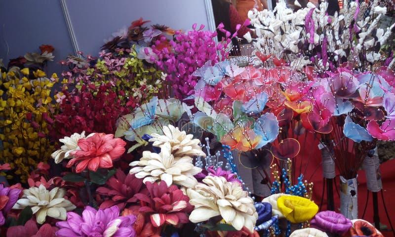 Handgemachte Blumen stockfotografie