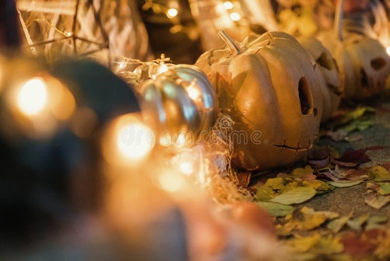 Handgemachte Hauptdekoration für die Feier von Halloween lizenzfreie stockbilder