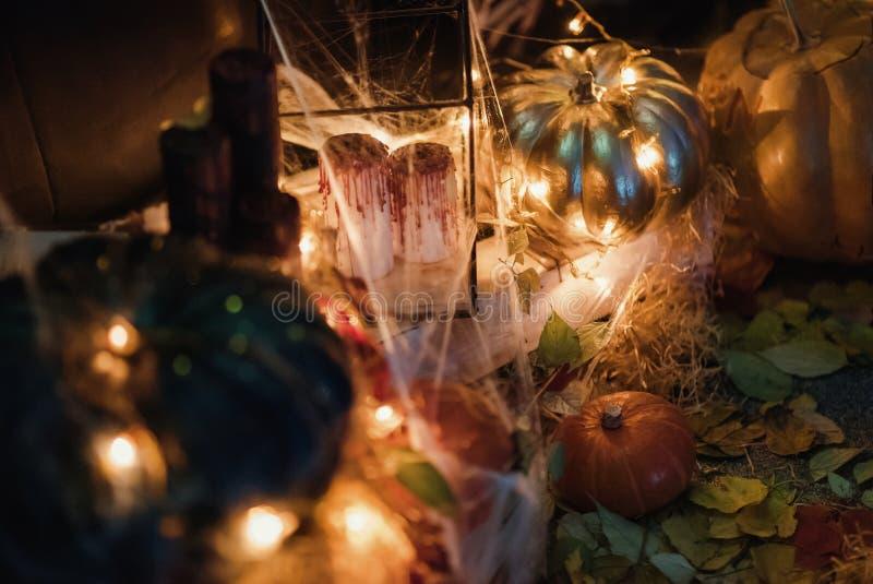 Handgemachte Hauptdekoration für die Feier von Halloween stockfotografie
