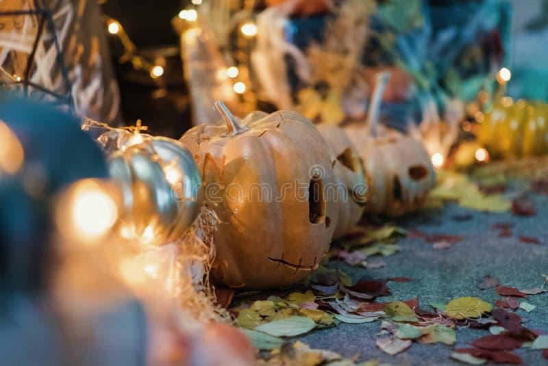 Handgemachte Hauptdekoration für die Feier von Halloween stockbilder