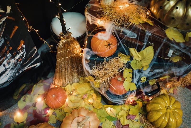 Handgemachte Hauptdekoration für die Feier von Halloween lizenzfreie stockfotografie