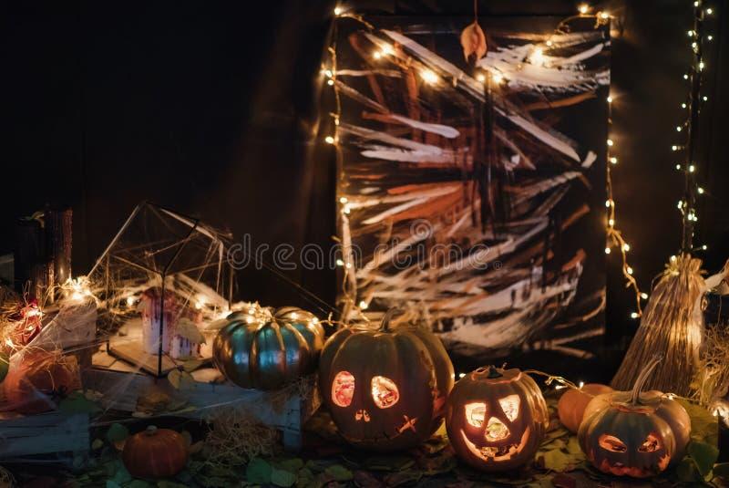 Handgemachte Hauptdekoration für die Feier von Halloween stockfotos