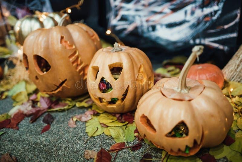Handgemachte Hauptdekoration für die Feier von Halloween stockfoto