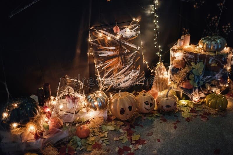 Handgemachte Hauptdekoration für die Feier von Halloween stockbild