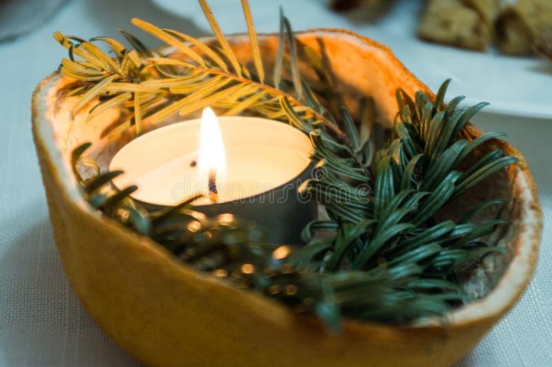 Handgemachte Kerze stockbild