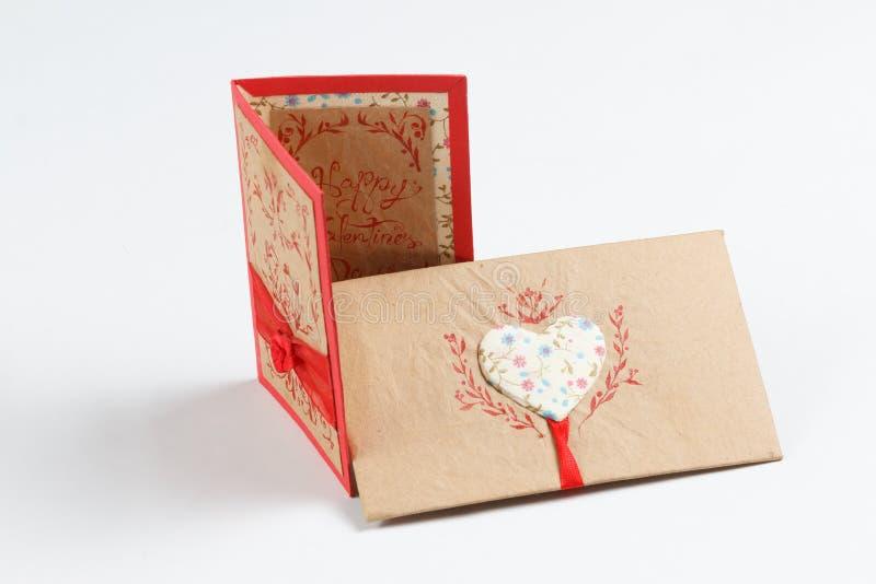 Handgemachte Liebesmitteilung des Valentinstags lizenzfreies stockfoto
