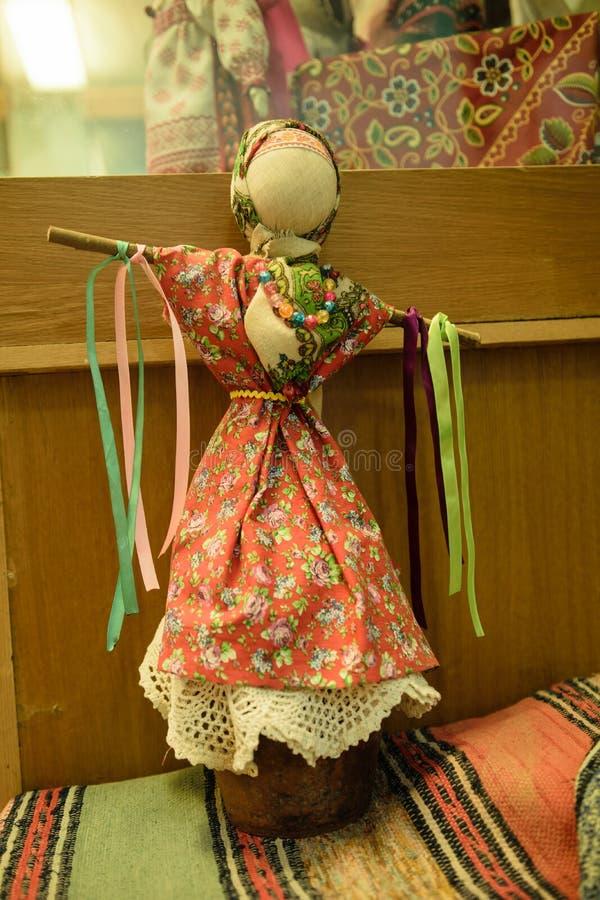 Handgemachte Puppe der Weinlese stockbild