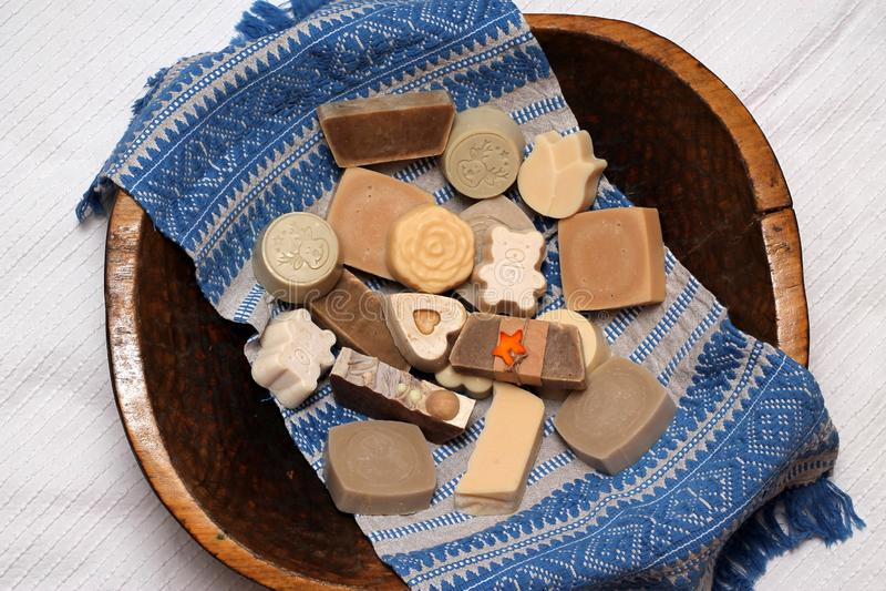 Handgemachte Seife machte mit Liebe lizenzfreies stockbild