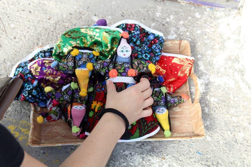 Handgemachte türkische Puppen stockfotografie