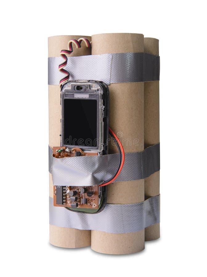 Handgemachte Terroristbombe lizenzfreie stockbilder