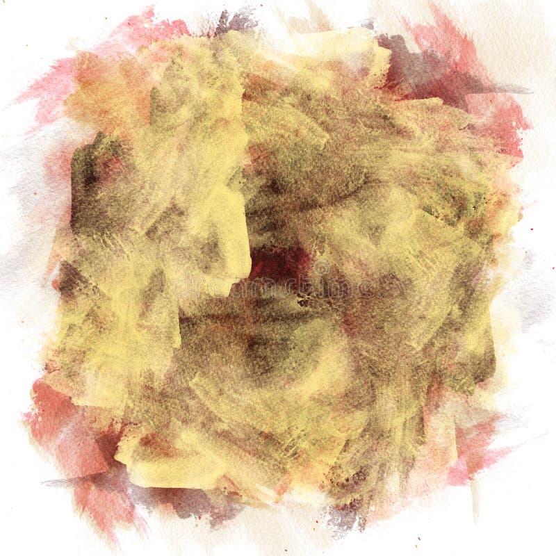 Handgemachte Watercolourbeschaffenheit in den verschiedenen Farben, bunt abs vektor abbildung
