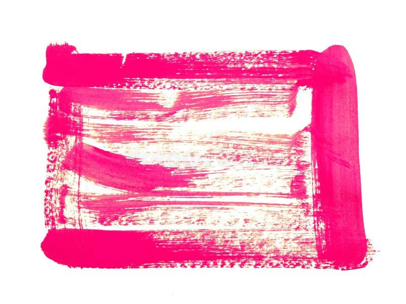 Handgemachter copyspace Quadratrahmen gemacht mit Bürstenanschlägen der Ölfarbe stockfoto