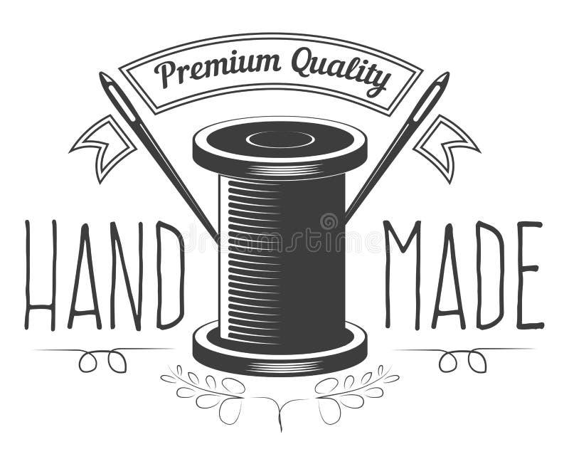 Handgemachter Shop mit Textilerzeugnissen der erstklassigen Qualität vektor abbildung