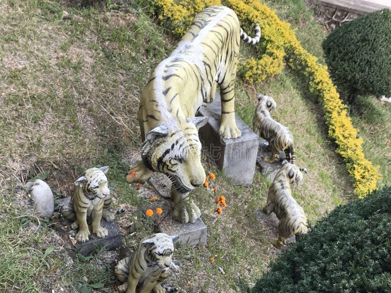 Handgemachter Tiger lizenzfreie stockfotos
