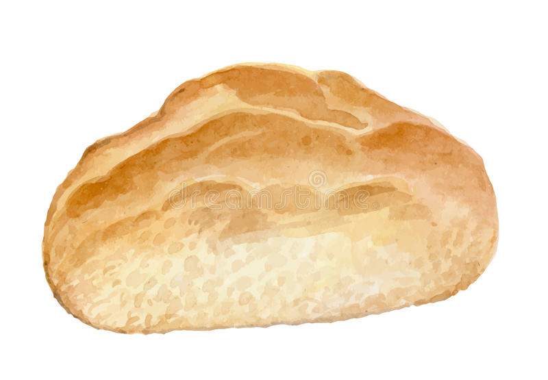 Handgemachtes appetitanregendes Brot - Aquarellvektor stock abbildung