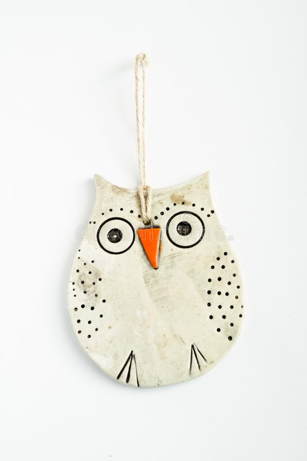 Handgemachtes keramisches Owl Figurine lizenzfreies stockbild
