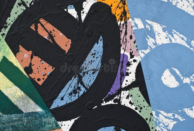 Handgemalte Papiercollage lizenzfreies stockfoto