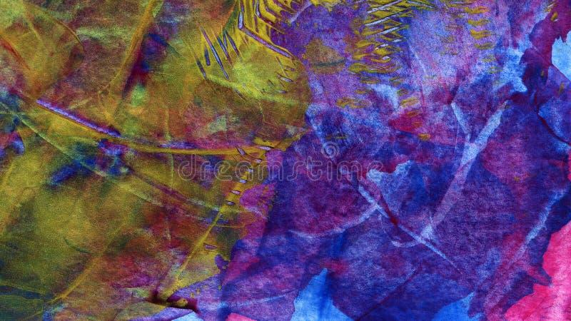 Handgemalter Acrylkunsthintergrund lizenzfreie abbildung