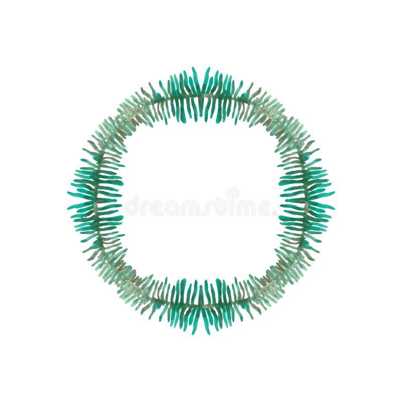 Handgemalter Aquarell-Blatt-Vektorrahmen vektor abbildung