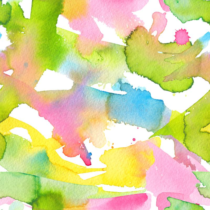Handgemalter nahtloser Hintergrund des abstrakten Aquarells vektor abbildung