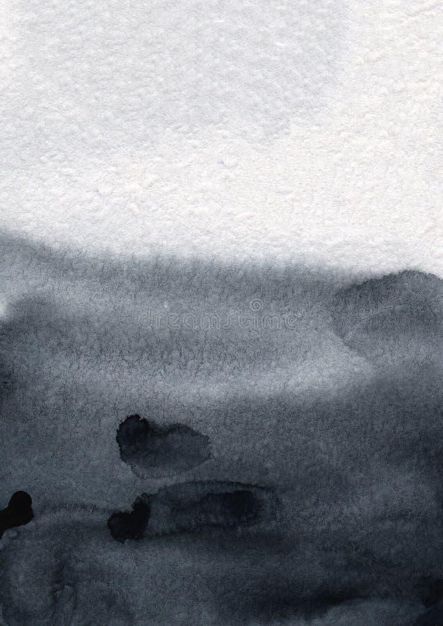 Handgemaltes dekoratives strukturiertes Spritzen des Aquarells in der grauen Pastellfarbe Abstrakter Hintergrund der empfindliche vektor abbildung