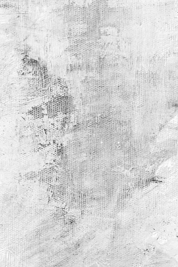 Handgemaltes Segeltuch mit weißen Anschlägen über grauem Hintergrund stockfoto