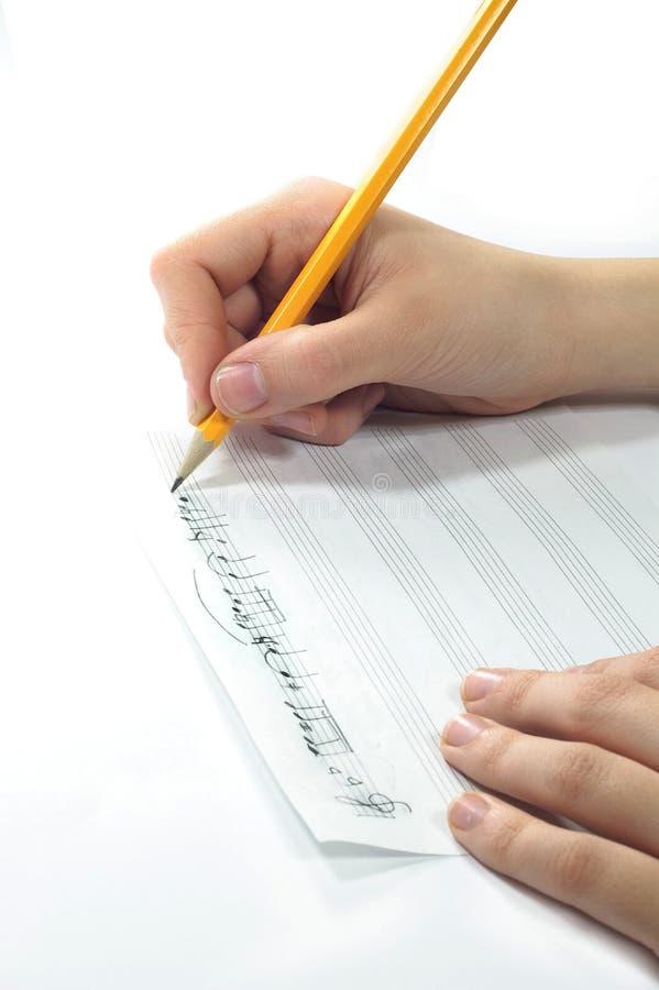 Handgeschriebene Musik stockbilder