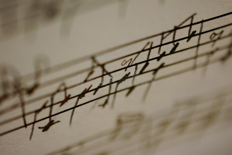 Handgeschriebene Musik lizenzfreies stockbild