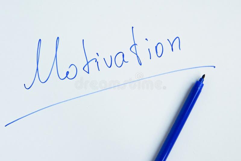 Handgeschriebenes Motivphrase ` Motivation ` stockbilder