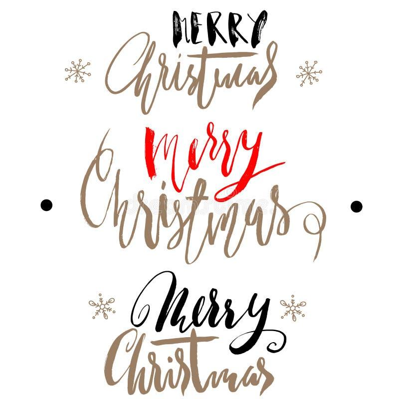 handgeschriebenes weihnachtsgold und rote kalligraphie. Black Bedroom Furniture Sets. Home Design Ideas